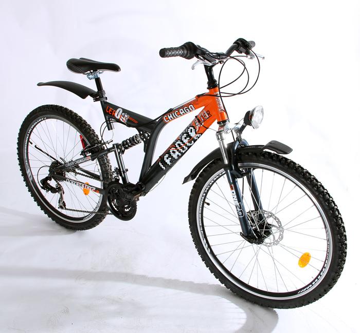 26 full suspension mountainbike mtb fahrrad leader chicago stvzo neu ebay. Black Bedroom Furniture Sets. Home Design Ideas
